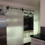 Kitchen remodel rolling door