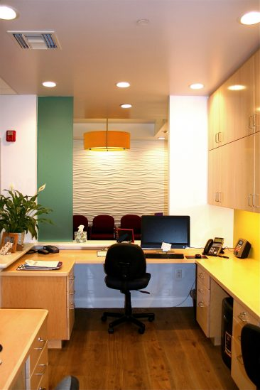 Medical office reception remodel