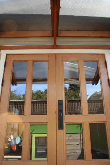 New Alameda studio French doors