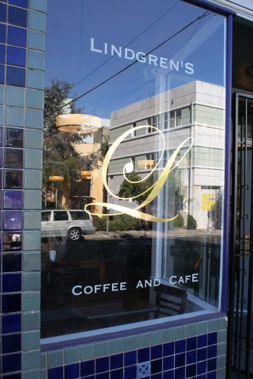 Cafe remodel front window