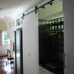 Kitchen remodel wine rack