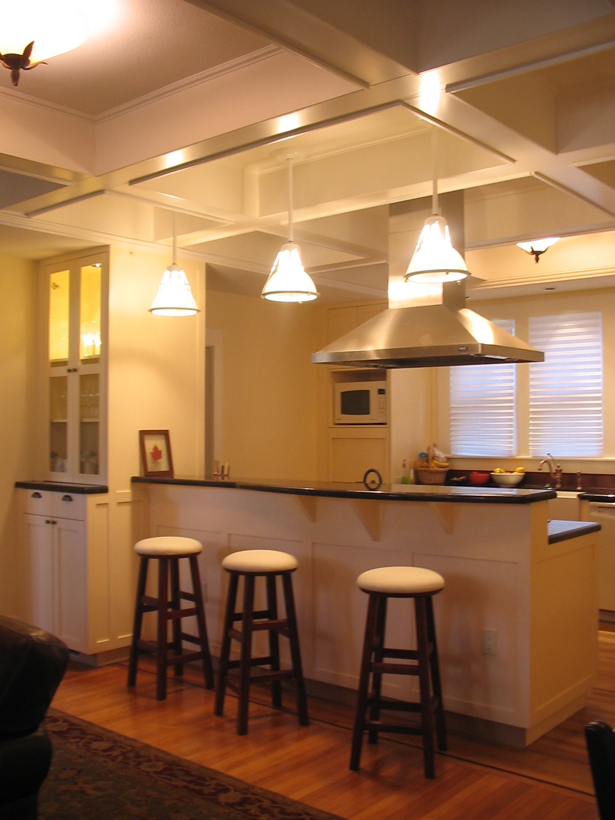 Kitchen remodel with bar