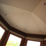 Master bedroom bay ceiling
