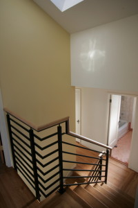 Staircase in new second story addition