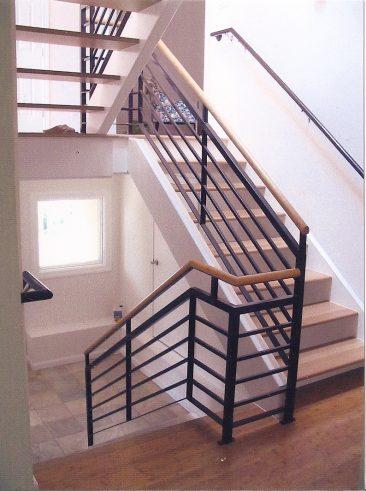 Light filled stair in Oakland Hills remodel